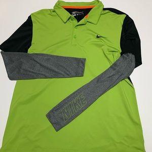 Men's long sleeve bike golf polo shirt